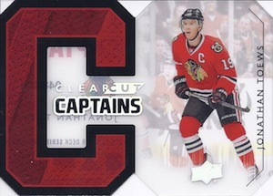 2014-15 Upper Deck Series 1 Hockey Clear Cut Captains