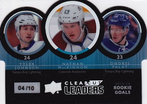 2014-15 Upper Deck Series 1 Hockey Clear Cut Leaders