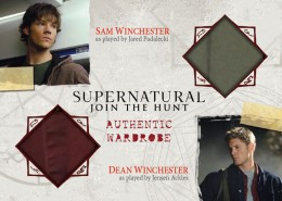 2014 Cryptozoic Supernatural Seasons 1-3 Dual Wardrobe