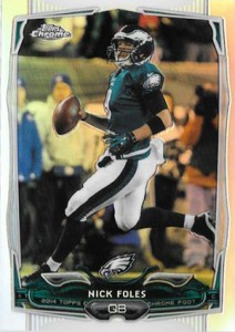 2014 Topps Chrome 109 Nick Foles Refractor