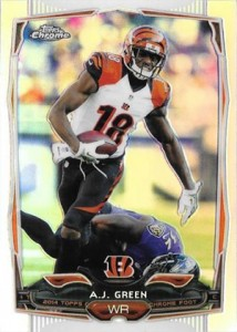2014 Topps Chrome 45 AJ Green Refractor
