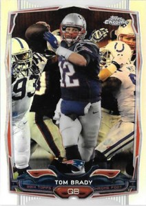 2014 Topps Chrome 62 Tom Brady Refractor