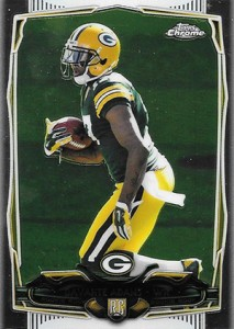 2014 Topps Chrome Football Variations 114 Davante Adams