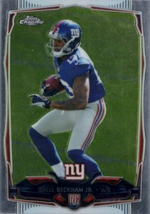 2014 Topps Chrome Football Variations 117 Odell Beckham Jr