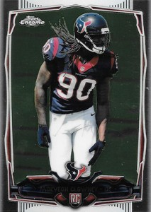 2014 Topps Chrome Football Variations 120 Jadeveon Clowney