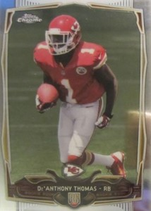 2014 Topps Chrome Football Variations 155 De'Anthony Thomas