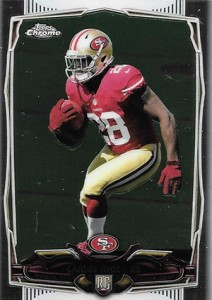 2014 Topps Chrome Football Variations 158 Carlos Hyde