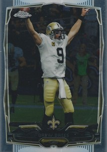 2014 Topps Chrome Football Variations 17 Drew Brees