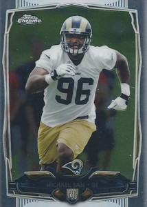 2014 Topps Chrome Football Variations 174 Michael Sam