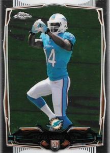2014 Topps Chrome Football Variations 177 Jarvis Landry