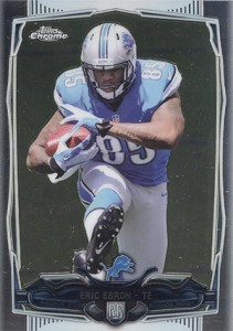 2014 Topps Chrome Football Variations 2134 Eric Ebron