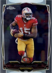 2014 Topps Chrome Football Variations 32 Michael Crabtree