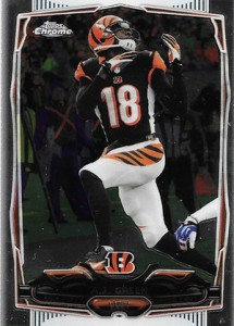 2014 Topps Chrome Football Variations 45 AJ Green