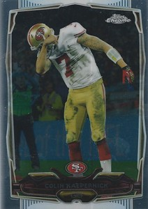 2014 Topps Chrome Football Variations 56 Colin Kaepernick