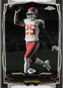 2014 Topps Chrome Football Variations 72 Jamaal Charles