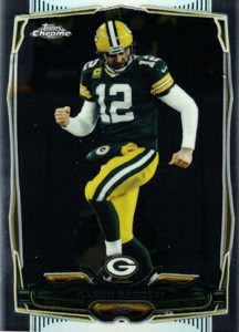 2014 Topps Chrome Football Variations 83 Aaron Rodgers