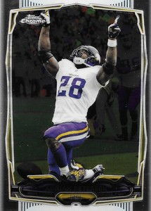 2014 Topps Chrome Football Variations 89 Adrian Peterson