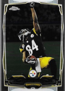 2014 Topps Chrome Football Variations 9 Antonio Brown