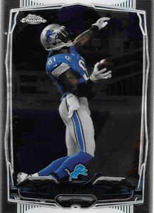 2014 Topps Chrome Football Variations 98 Calvin Johnson