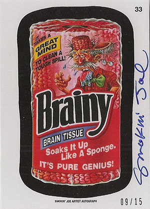 2014 Topps Wacky Packages Series 1 Autograph