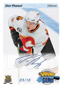 2014 Upper Deck 25th Anniversary Young Guns Tribute Autograph Dion Phaneuf