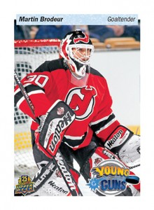 2014 Upper Deck 25th Anniversary Young Guns Tribute Martin Brodeur