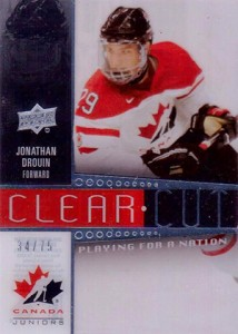 2014 Upper Deck Team Canada Juniors Clear Cut Jonathan Drouin