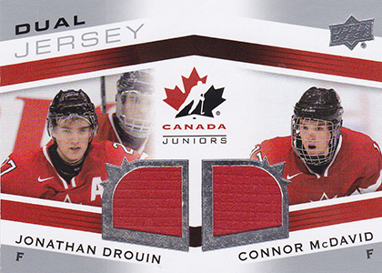 2014 Upper Deck Team Canada Juniors Dual Jersey Jonathan Drouin Connor McDavid