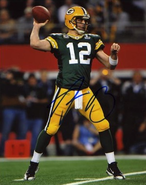 Aaron Rodgers Green Bay Packers Signed Photo