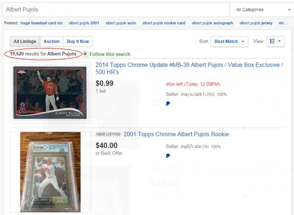 Albert Pujols eBay Search Results #1