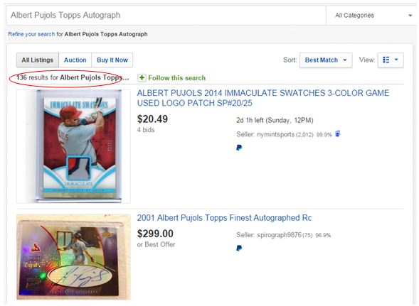 Albert Pujols eBay Search Results #2
