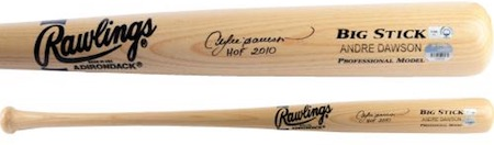 Andre Dawson Chicago Cubs Signed Bat