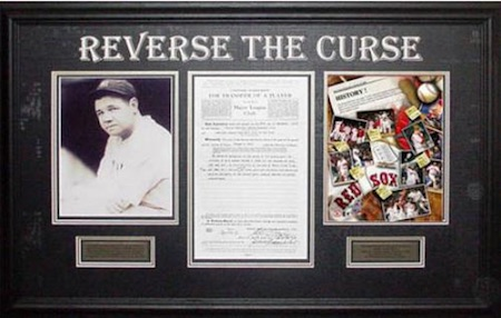 Babe Ruth Boston Red Sox Reverse the Curse Framed Collage