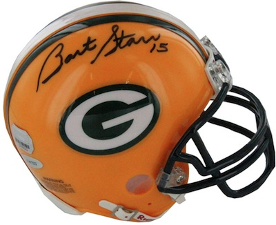 Bart Star Green Bay Packers Signed Mini Helmet