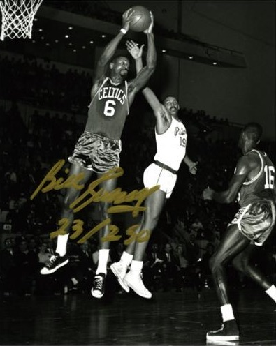 Bill Russell Boston Celtics Signed Photograph
