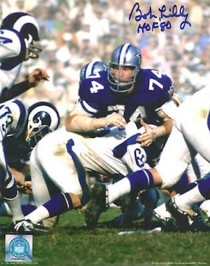 Bob Lilly Dallas Cowboys Signed Photograph