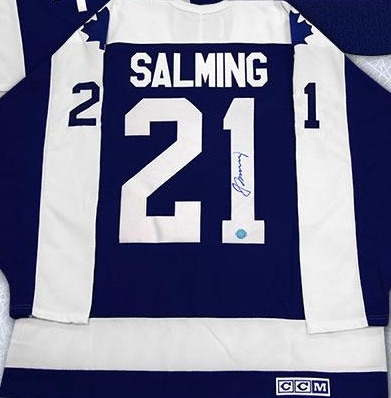 Borje Salming Toronto Maple Leafs Signed Jersey
