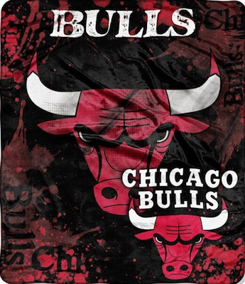 Chicago Bulls Fleece Blanket Throw