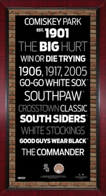 Chicago White Sox Framed Subway Sign