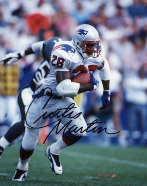 Curtis Martin New England Patriots Signed Photo