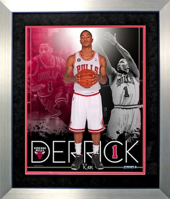 Derrick Rose Chicago Bulls Framed Collage