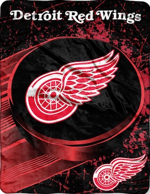 Detroit Red Wings Fleece Blanket Throw