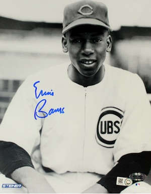 Ernie Banks Chicago Cubs Signed Photo