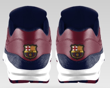 FC Barcelona Nike Air Max 1 iD back