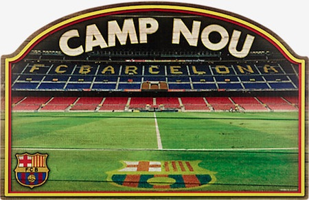 FC Barcelona Wood Sign