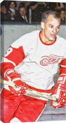 Gordie Howe Detroit Red Wings Canvas Print