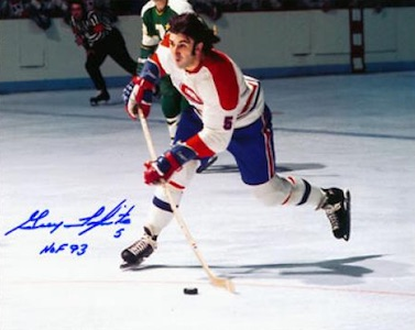 Guy Lapointe Montreal Canadiens Signed Photo