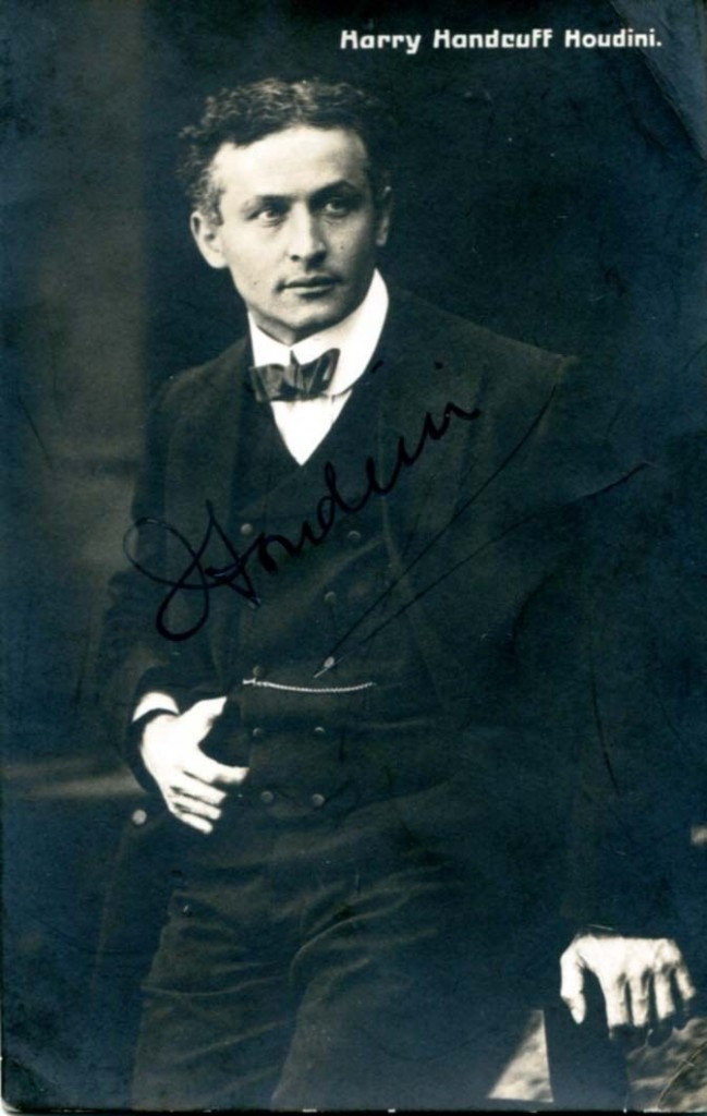 Harry Houdini Autographed Photo