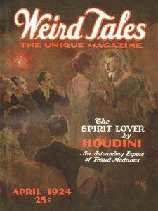 Harry Houdini Weird Tales April 1924
