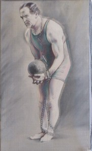 Harry Houdini Wire Painting
